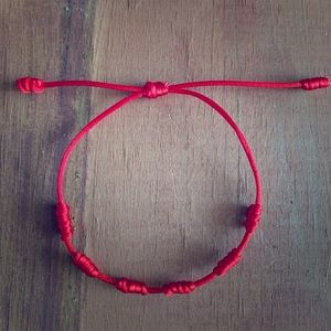 Jewelry - 7 Knots Red String Bracelet